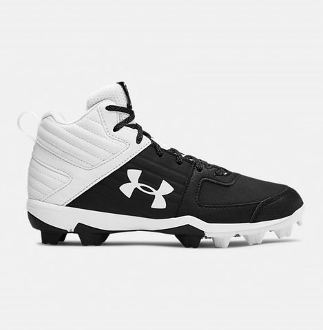 Under Armour Leadoff Mid RM Baseball Cleats- Junior