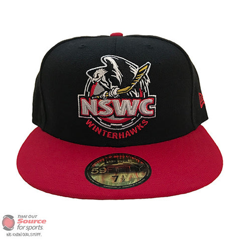North Shore Winter Club Fitted Hat - Black/Red
