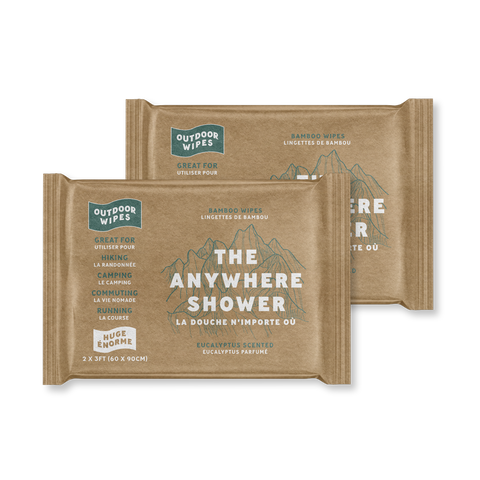 Anywhere Shower- 2x3 Wipes