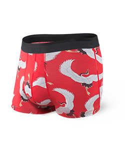 Saxx Platinum Boxer Briefs- Red Cranes