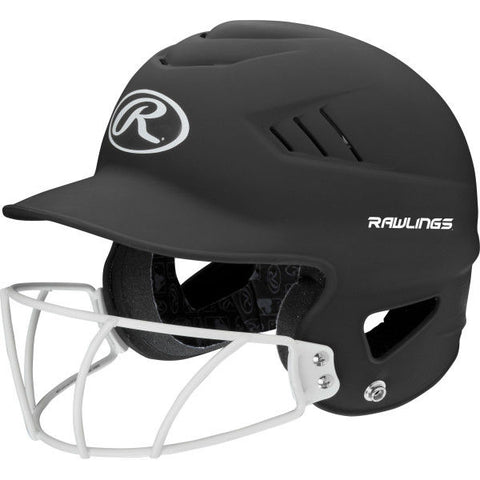Rawlings CoolFlo Matte Batting Helmet Facemask Combo