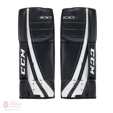 CCM 100 Street Hockey Leg Pads- Youth