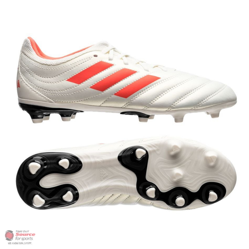 4977177b56e Adidas Copa 19.3 FG Cleats- Off White Solar Red Core Black- Adult ...