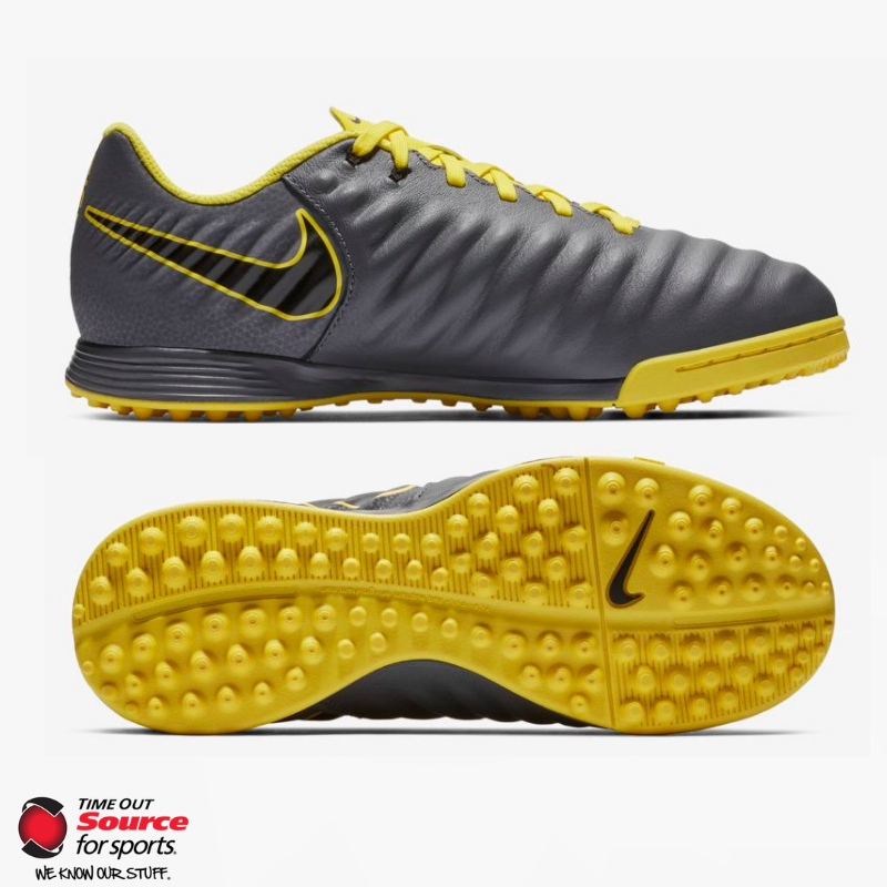 brand new a1a6b 7e973 Nike Tiempo Legend 7 Academy Turf Boots- Dark Grey/Opti Yellow/Black- Junior