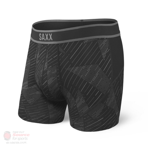 Saxx Kinetic Boxer Briefs- Black Shattered