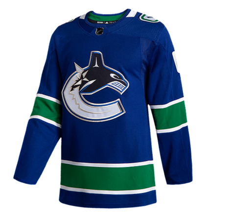 Adidas Authentic Vancouver Canucks Home Jersey- Brock Boeser- Men's