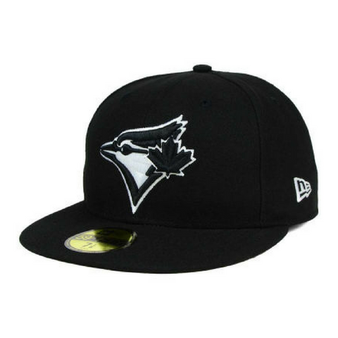 New Era 59Fifty Black & White Fitted Hat - Toronto Blue Jays