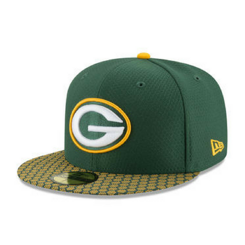 New Era 5950 NFL On-Field Fitted Hat - Green Bay Packers