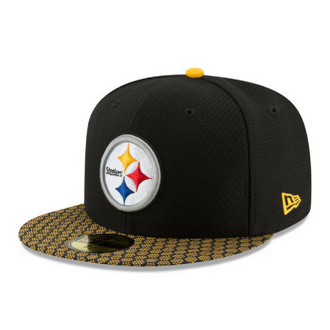 New Era 59Fifty NFL On-Field Fitted Hat - Pittsburgh Steelers