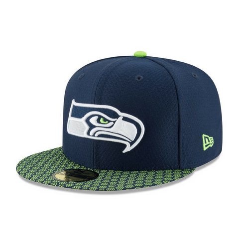 New Era 5950 NFL On-Field Fitted Hat - Seattle Seahawks