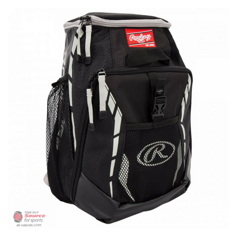 Rawlings R400 Youth Player's Baseball Backpack - Black