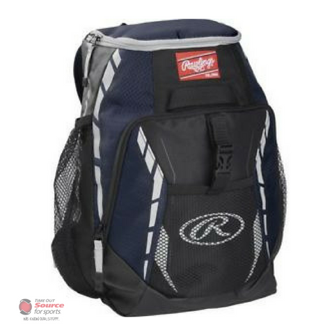 Rawlings R400 Youth Player's Baseball Backpack - Navy Blue