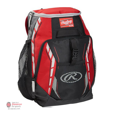 Rawlings R400 Youth Player's Baseball Backpack - Red
