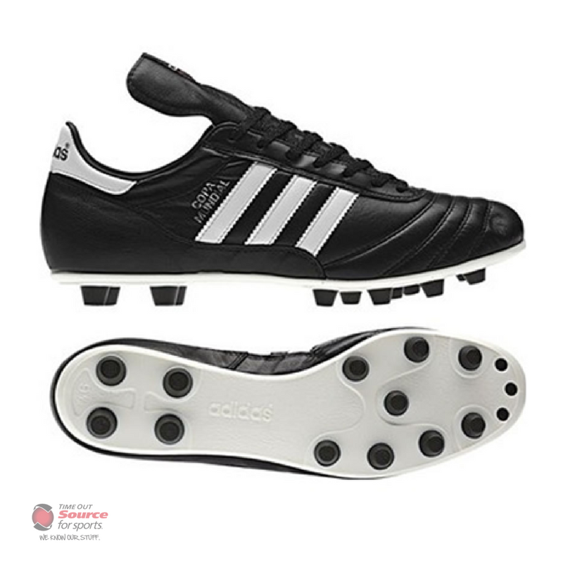 d7a4ec28b88c Adidas Copa Mundial Leather FG Cleats - Black/White- Senior & Junior ...