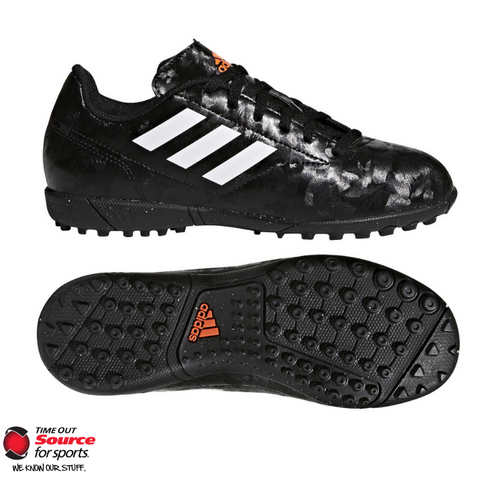 Adidas Conquisito II Turf Boots- Core Black/Cloud White/Solar Red- Junior