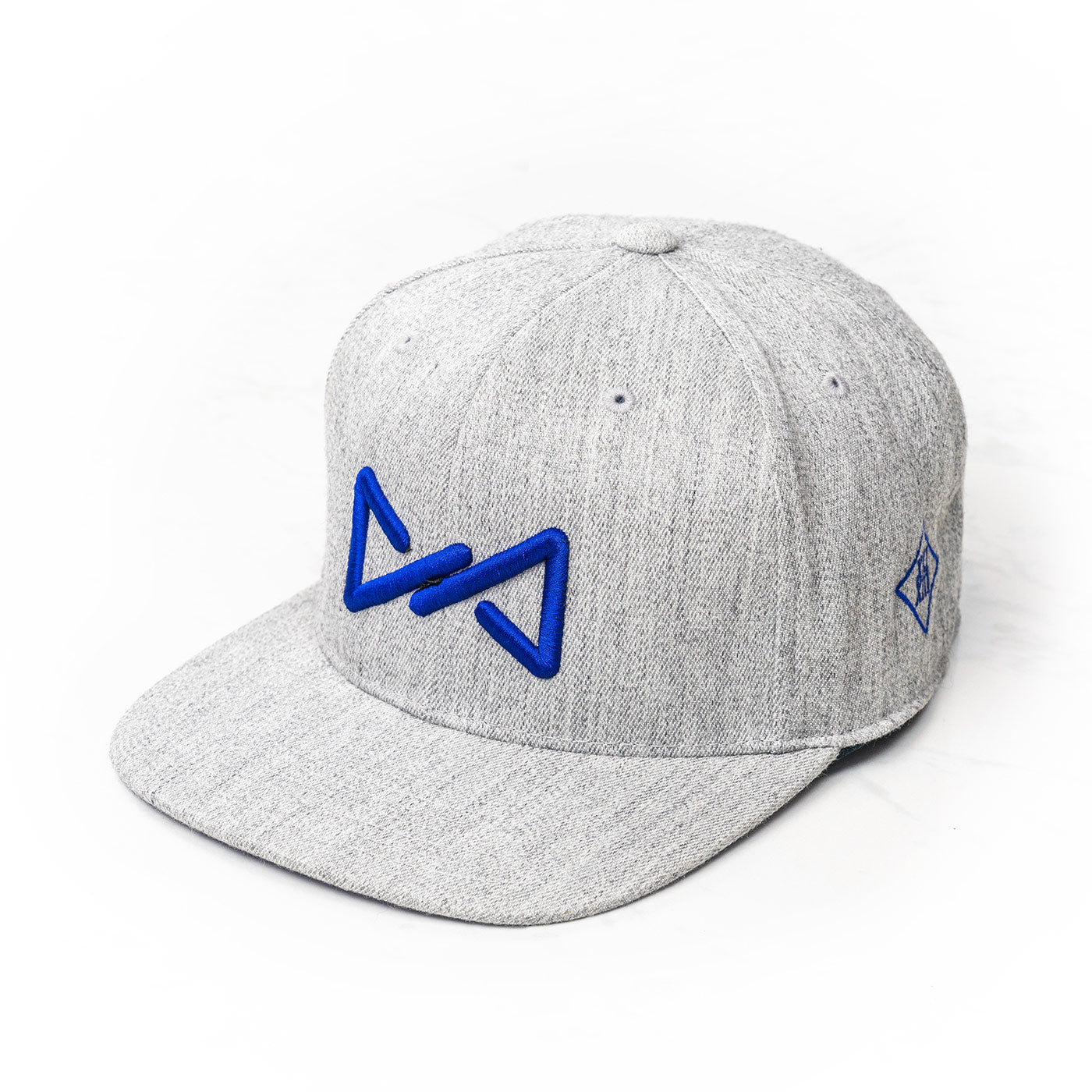 Classic snapback blue on grey