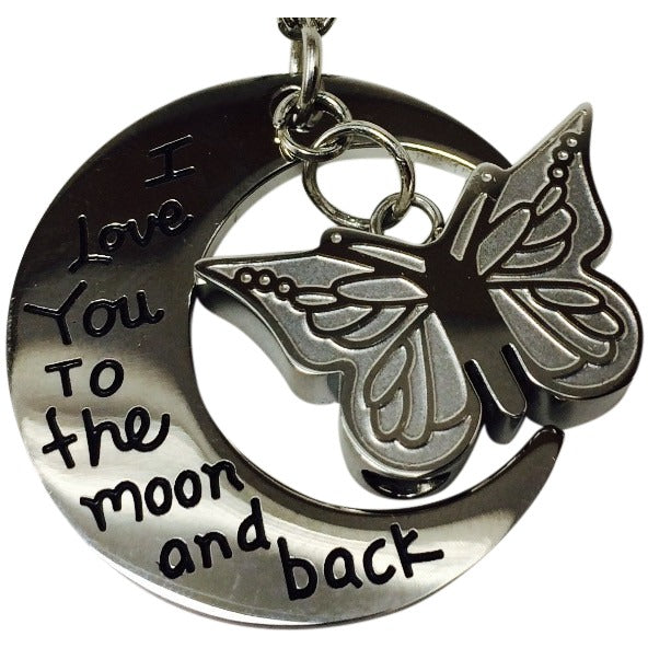 Premium 1k i love you to the moon back butterfly pendant premium 1k i love you to the moon back butterfly pendant mozeypictures Images