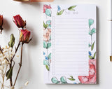 May Floral List Pad