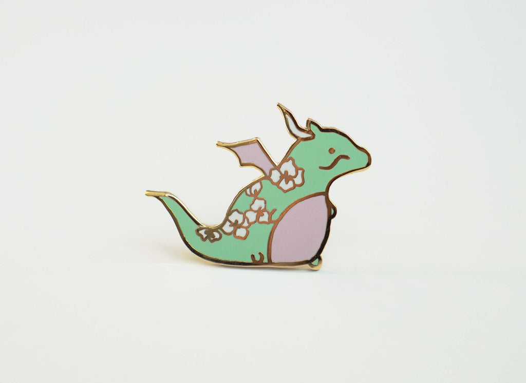 Mint Dragon Pin