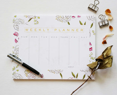 Pink Weekly Notepad