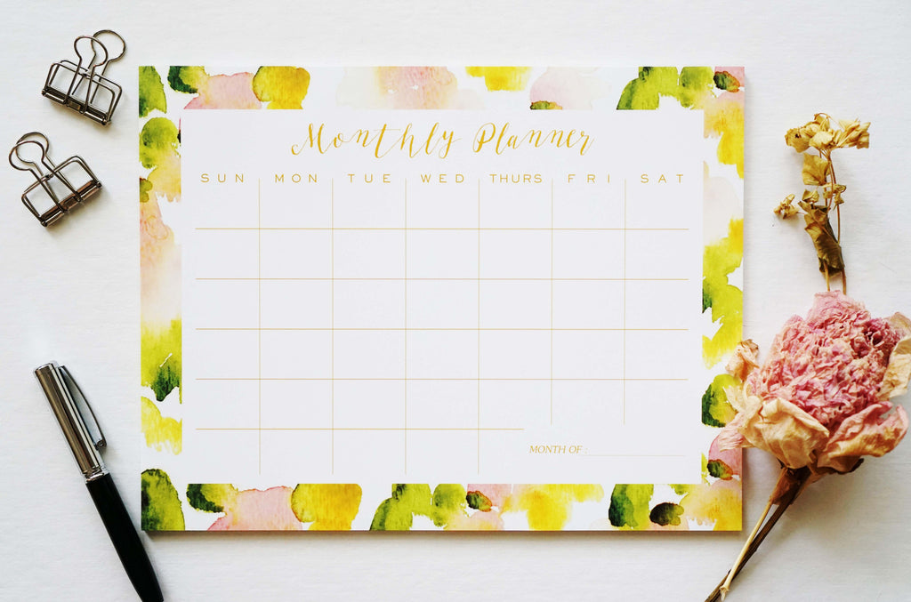 Abstract Monthly Planner - Ginably - 2