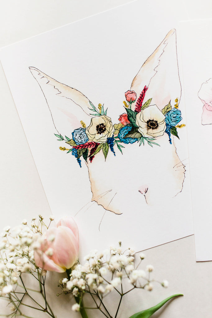Bunny Flower Crown - Ginably - 3