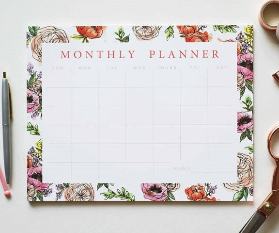 Pink Monthly Planner