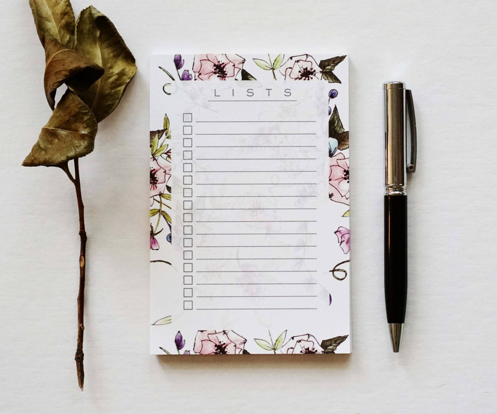 Floral List Pad - Ginably