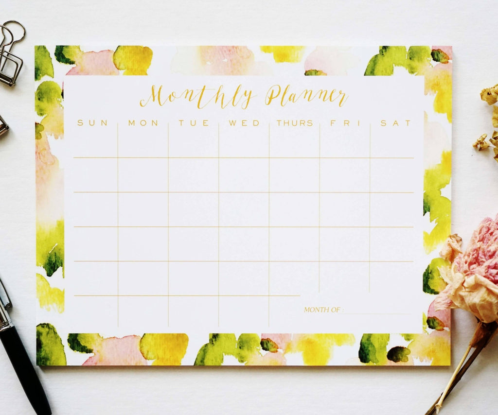 Abstract Monthly Planner - Ginably - 1