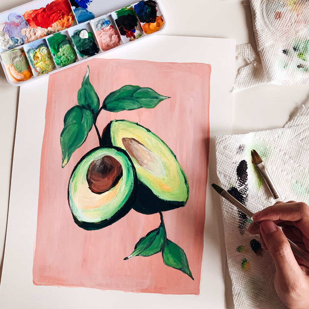 Avocados in Gouache