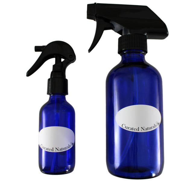 high quality essential oil blue glass spray bottles two