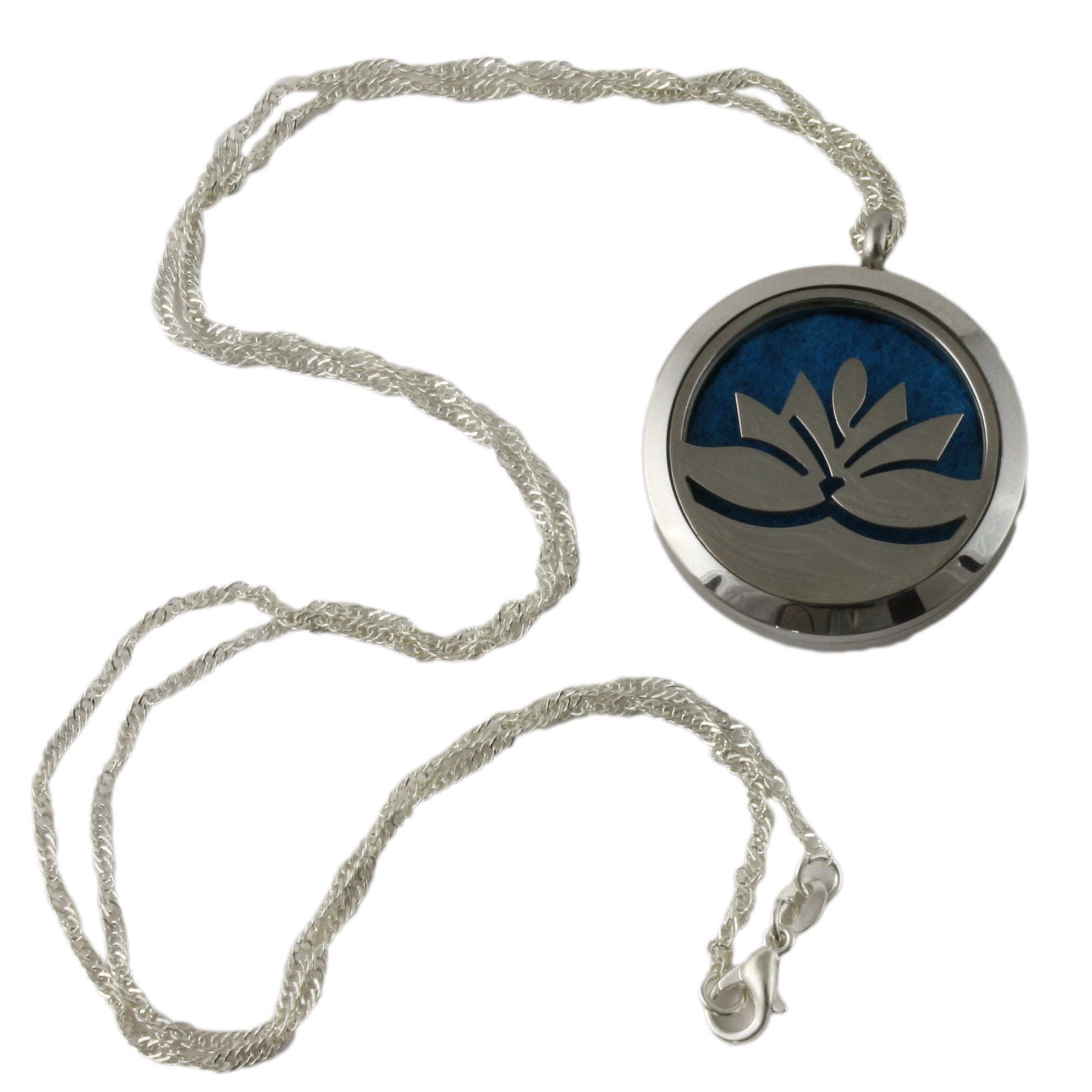 Essential Oil Diffuser Necklace Lotus Flower Curated Naturals