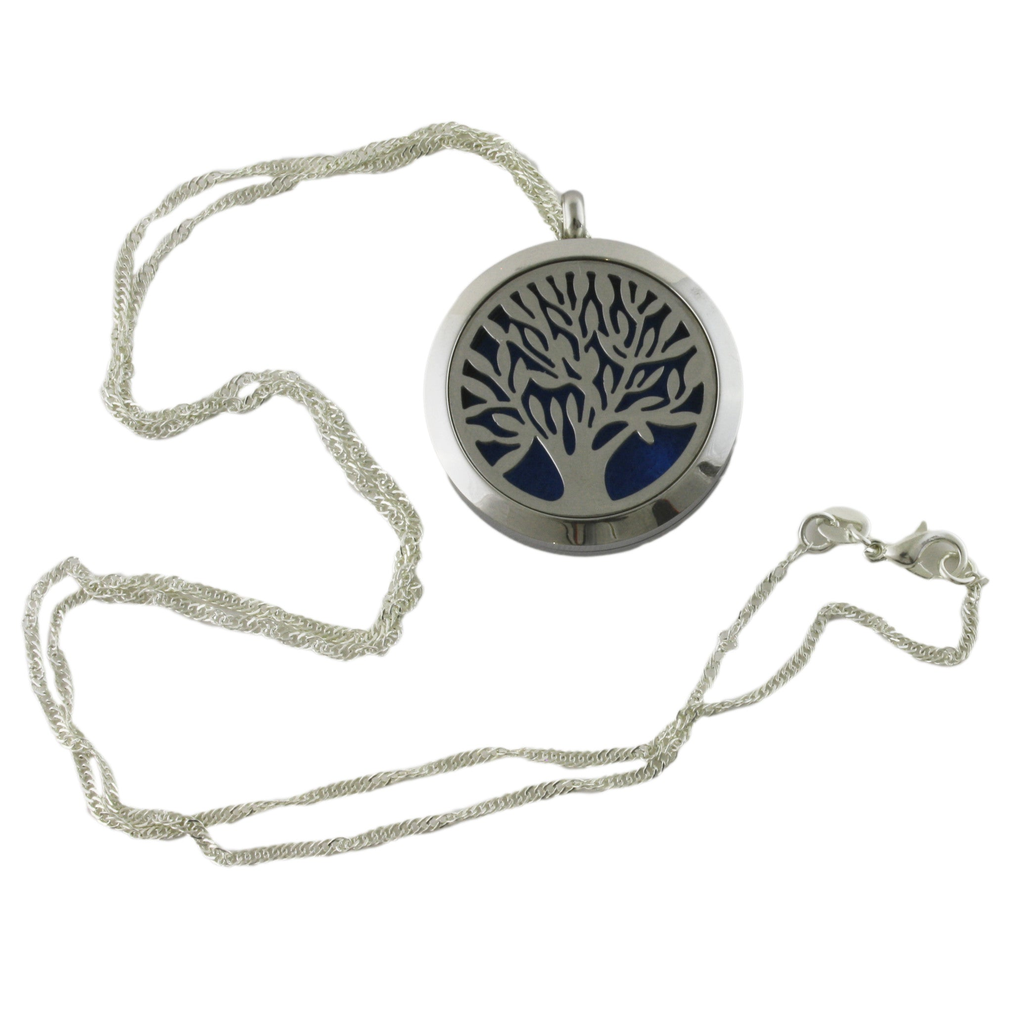 essential pendant profil necklace of life stainless chain diffuser with adjustable products oil tree locket steel