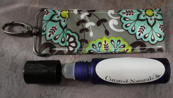 Essential Oil Roller Bottle Keychain Holder Curated Naturals
