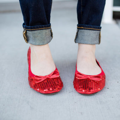 Sequin foldable flats