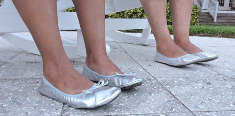 Silver foldable flats