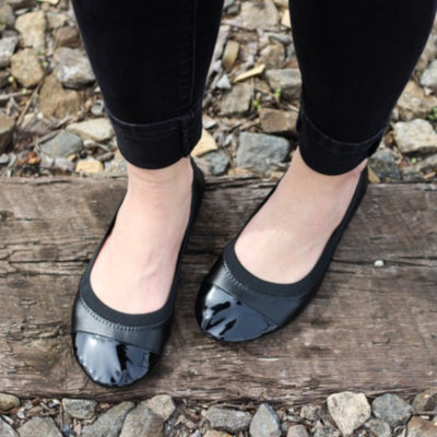 Two Tone ballet flats