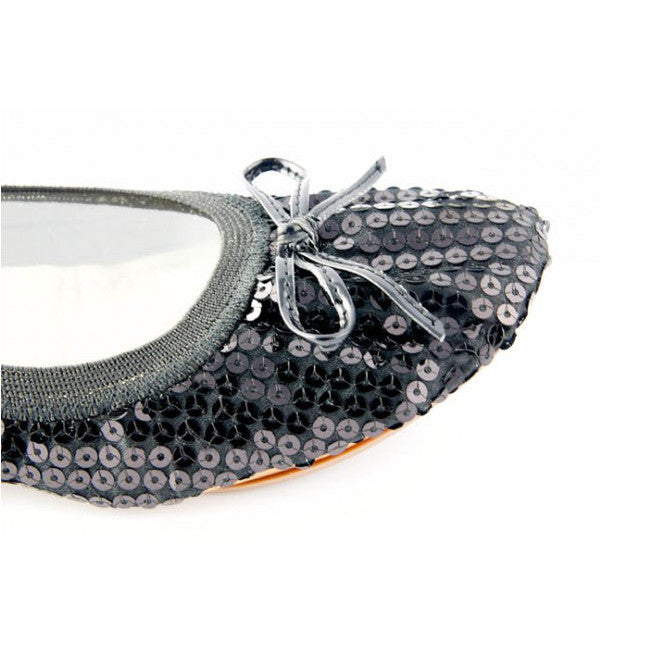 Black Sequin portable flats – Fit In Clouds