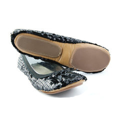Black Sequin portable flats - Fit In Clouds