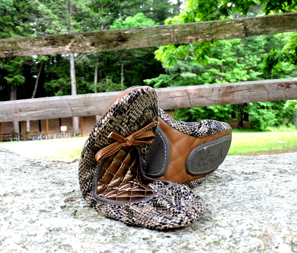 Brown foldable flats