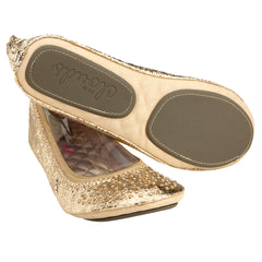 Split sole for foldable gold flats