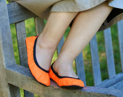 Tangerine folding shoes - Fit In Clouds