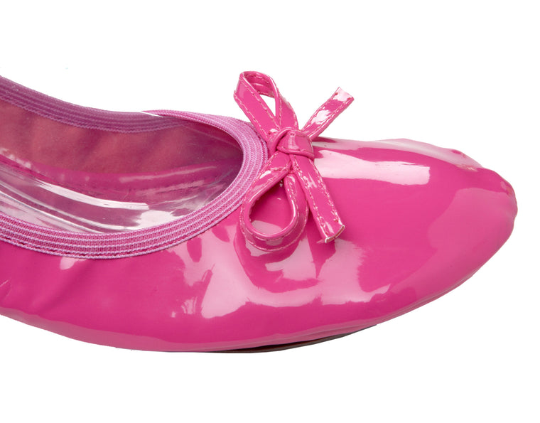 Pink folding shoes