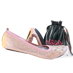 Rose gold foldable flats