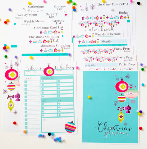 photo relating to Christmas Planner Printable named Printable Xmas Planner - Electronic Down load