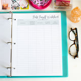 Printable Black and White Home Organization Binder - DIGITAL DOWNLOAD