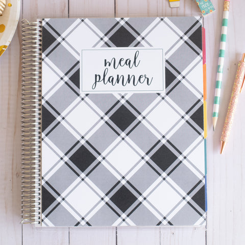 Black & White Meal Planner - 8.5x11
