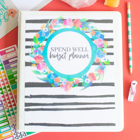 Printable Spend Well Budgeting Planner {Wild Thing} - DIGITAL DOWNLOAD