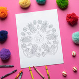 Printable Christmas Mandala Coloring Pages - DIGITAL DOWNLOAD