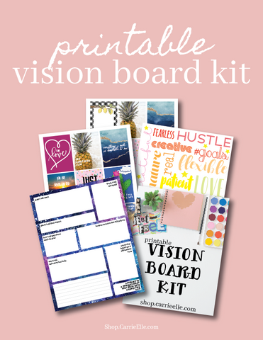 Printable Vision Board Kit - DIGITAL DOWNLOAD